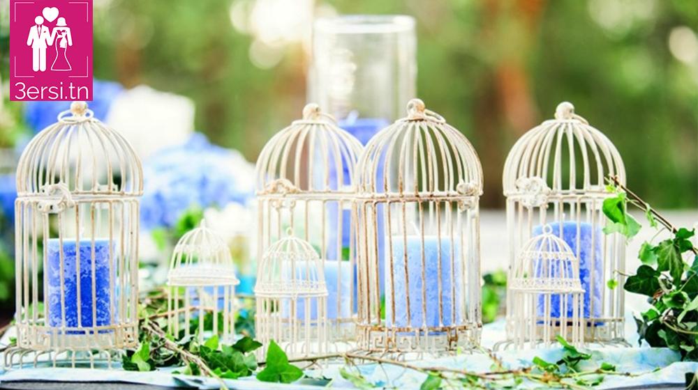 Pleins d'idées originales!! Des centres de table avec des cages a oiseaux!!