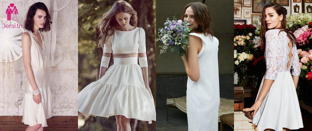 Une magnifique sélection de robe de mariée courte !!
