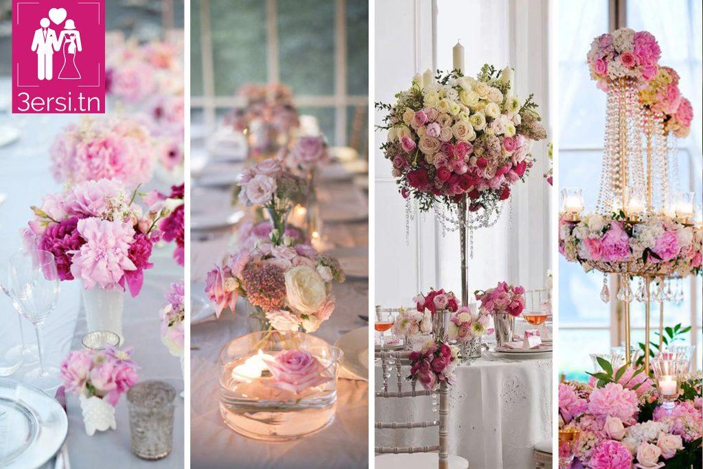 Les 21 meilleures décorations de tables de mariage en Rose !!