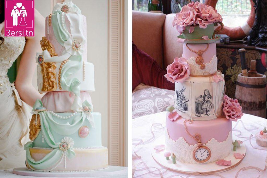 """Once upon a time , votre gâteau de mariage esprit """" DISNEYLAND """""""