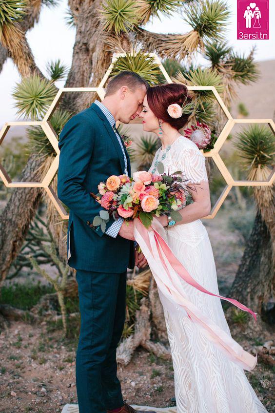 Mariage thème géométrique