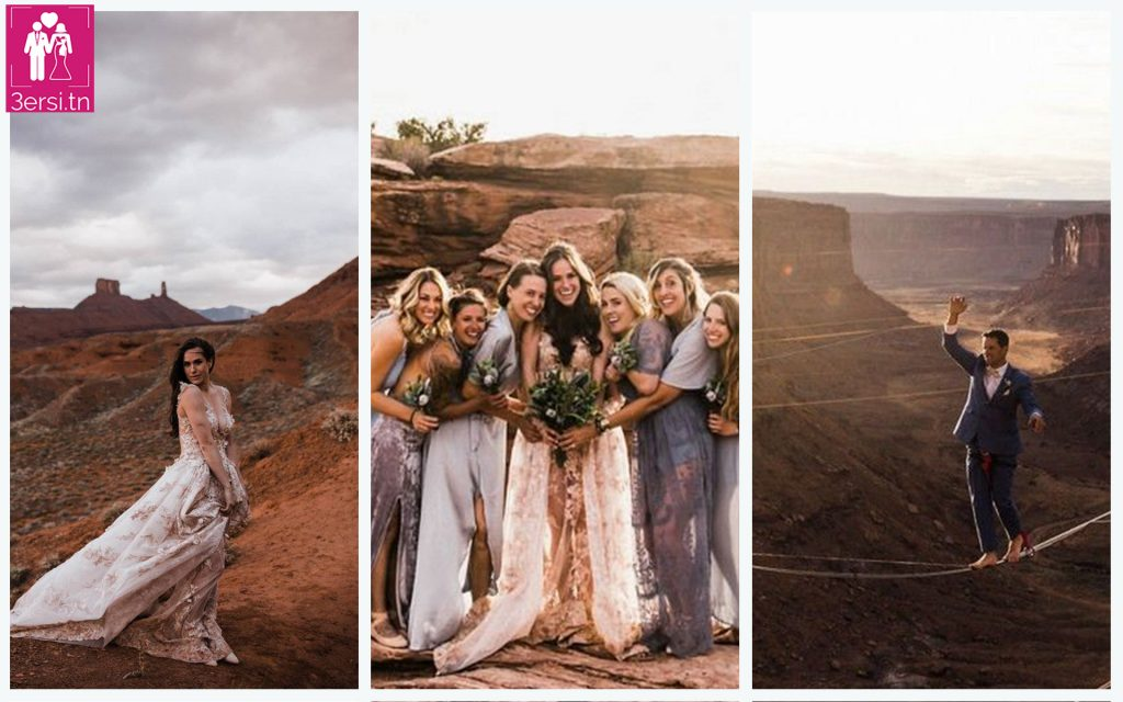 Un mariage à plus de 120 mètres au-dessus du sol!