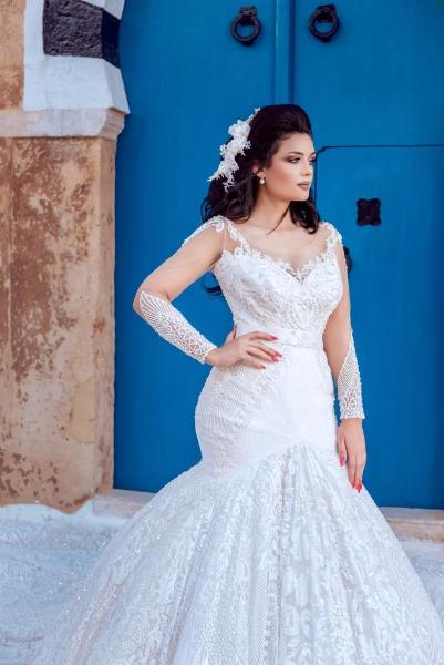 Narjes haute couture robe de mariage marsa ville la for Robes de mariage en plein air